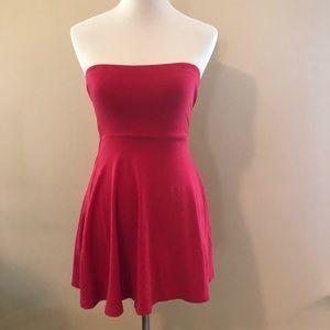 Express Hot Pink Strapless Dress